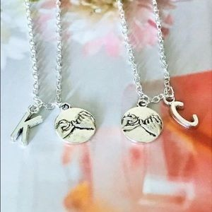 Jewelry - Set of 2 Pinky Promise Necklaces, Bff Necklaces.